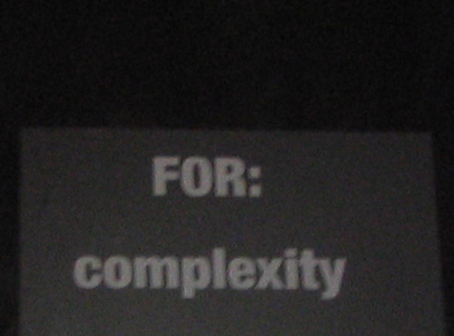 Forcomplexity