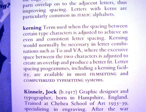 Kerningdictionary