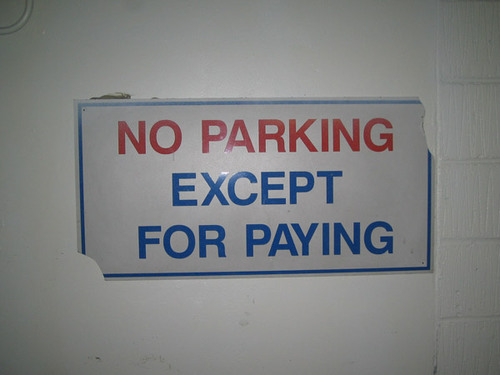 Noparkingexceptforpaying
